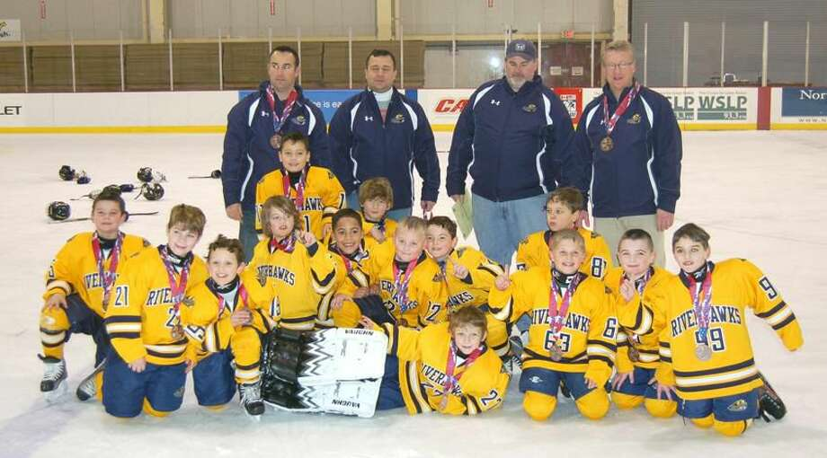 Submitted photo The Connecticut RiverHawks recently won the bronze medal at the Can/Am Hockey Tournament at Lake Placid, N.Y.