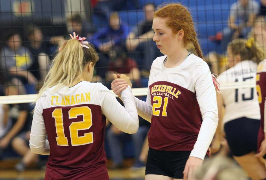 The Deckerville Eagles volleyball team swept visiting Kingston Tuesday night. Photo: Eric Rutter / Huron Daily Tribune