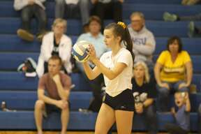 The Deckerville Eagles edged the North Huron Warriors in three sets on Thursday, Oct. 10.