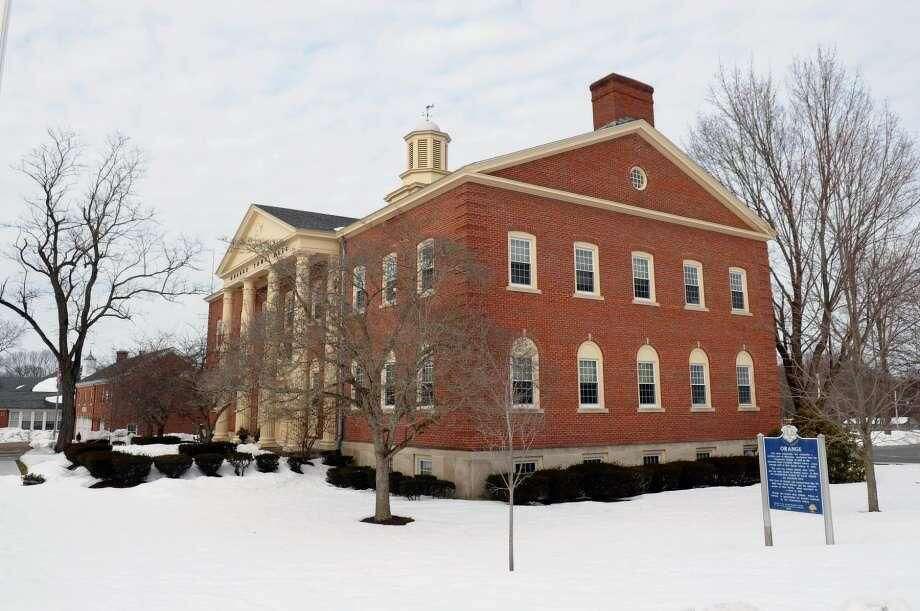 Orange Town Hall at 617 Orange Center Road.