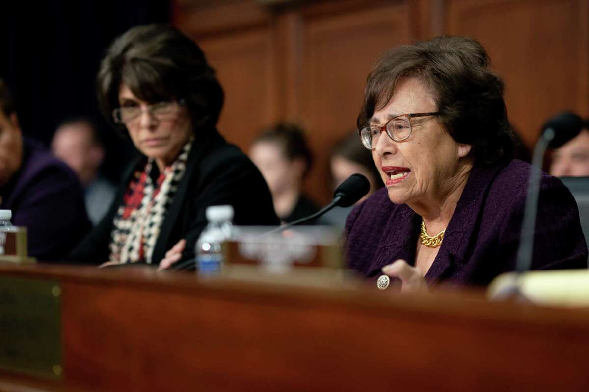 FILE -- Rep. Nita Lowey (D-N.Y.), chair of the House Appropriations Committee, during a hearing on Capitol Hill in Washington, March 26, 2019. Lowey, the first woman to lead the powerful House Appropriations Committee, unexpectedly announced on Oct. 10, 2019, that she would not seek re-election in 2020. (Erin Schaff/The New York Times)