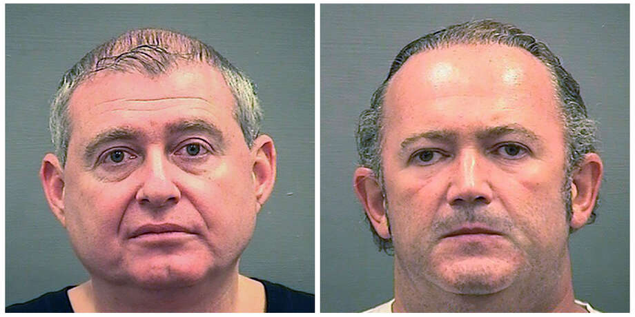 This combination of Wednesday, Oct. 9, 2019, photos provided by the Alexandria Sheriff's Office shows booking photos of Lev Parnas, left, and Igor Fruman. The associates of Rudy Giuliani, were arrested on a four-count indictment that includes charges of conspiracy, making false statements to the Federal Election Commission and falsification of records. The men had key roles in Giuliani's efforts to launch a Ukrainian corruption investigation against Biden and his son, Hunter. (Alexandria Sheriff's Office via AP) / Alexandria Sheriff's Office
