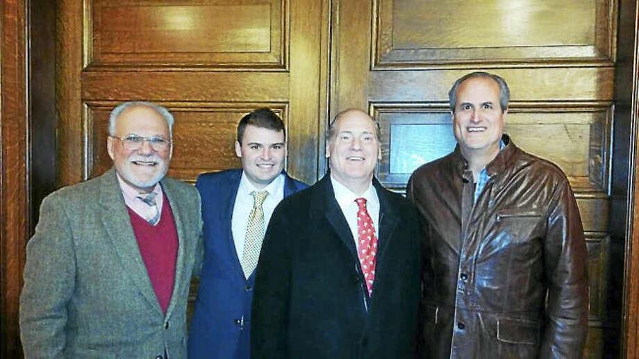 From left are David Lober, Spencer Rubin, Tony Anastasio and Joe Dey.