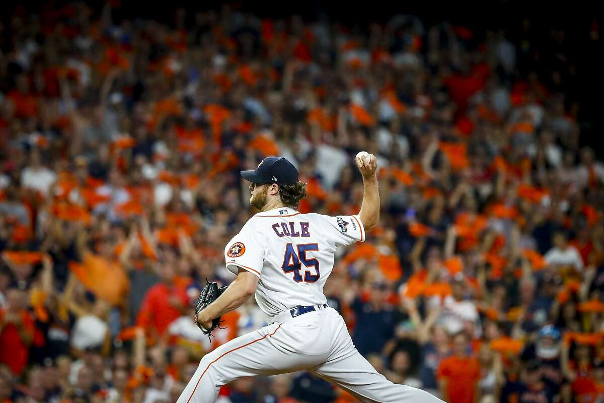 Gerrit Cole delivered the Astros an ALDS-clinching victory over the Rays at Minute Maid Park on Thursday night. >>>Check out how the righty's performance compares to some of the best pitching performances in the franchise's history, including efforts from Justin Verlander, Nolan Ryan, Roy Oswalt, Dallas Keuchel and more.