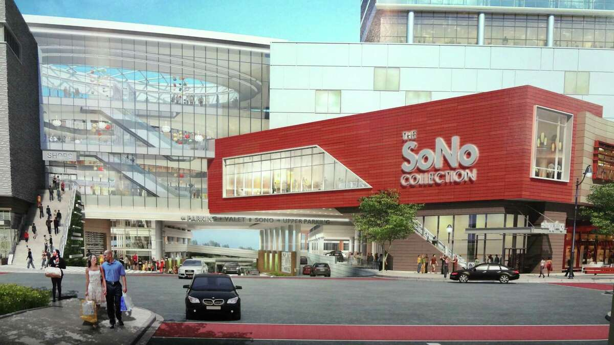 A rendering of the SoNo Collection mall.