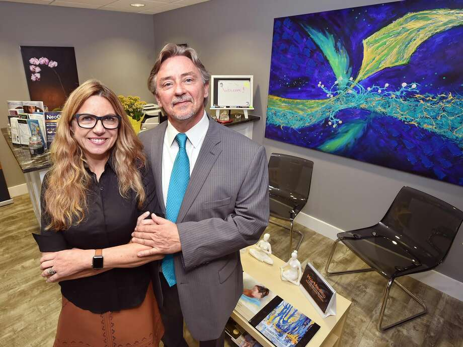 Dr. Charles Guglin and his wife Francesca, owners of HyperFit MD Age Management Centerin Milford. As stated on their webslte, Dr. Guglin finds the root cause of chronic illnesses through the use of advanced diagnostics, including extensive blood studies, genomics, body composition analysis, VO2 Max studies and cognitive testing.