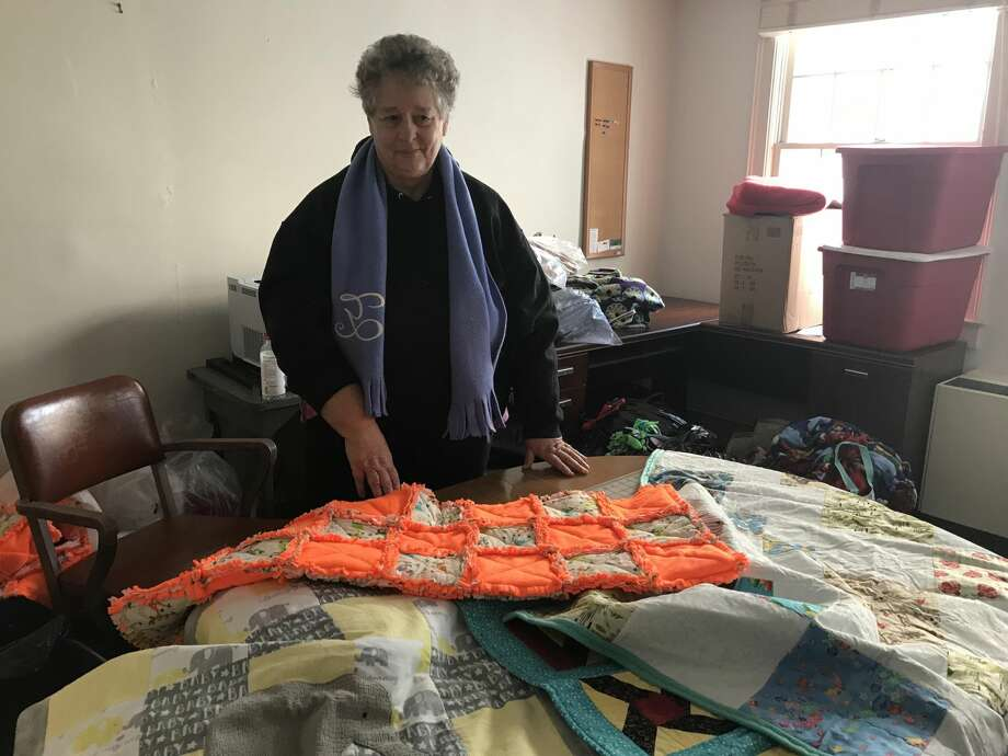 """Sue Yamaguchi, of West Haven, said, """"So I had to think of a way to help children in the system. Unfortunately, I can't give them a home, but I can at least give them the security of a blanket."""""""