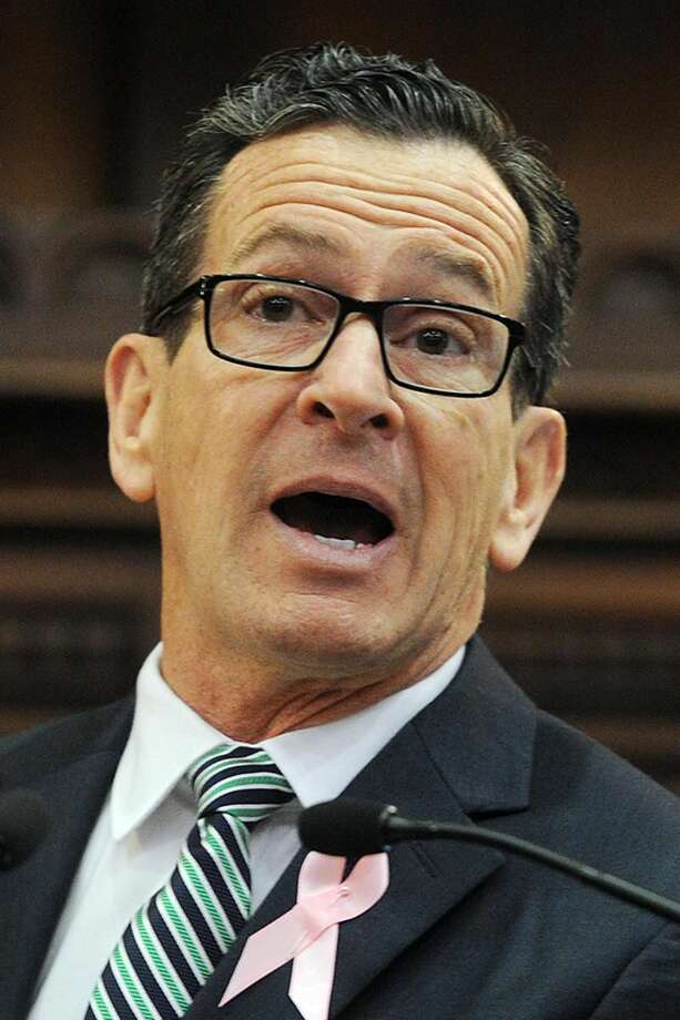 Governor Dannel P. Malloy speaks at his annual State of the State address during the opening session of the state legislature at the Capitol in Hartford, Conn. on Wednesday, February 7, 2018.