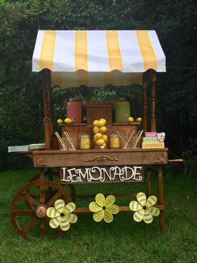 One of the party carts Cathy Langdon has used in her new business.