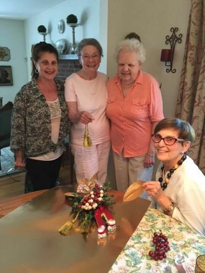 From left, Garden Club members Diana DeFillippo, Gail Nixon, Dot Zolla, and Marion Rizzo.
