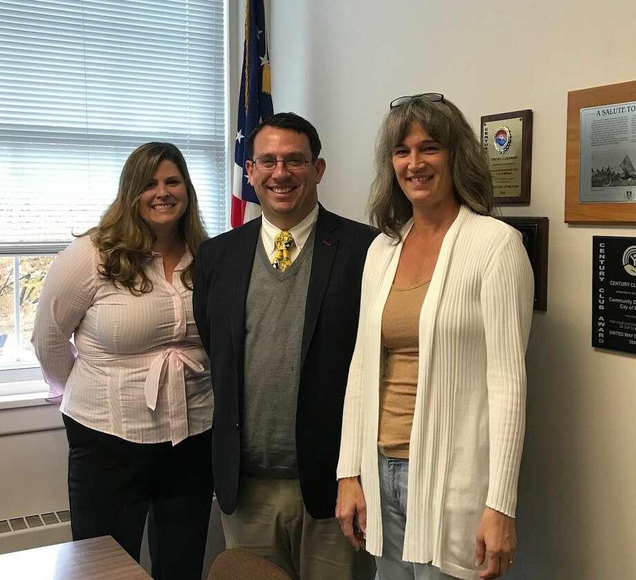 From left, Director of Economic & Community Development Julie Nash, Mayor Ben Blake, and Dee Diamond.