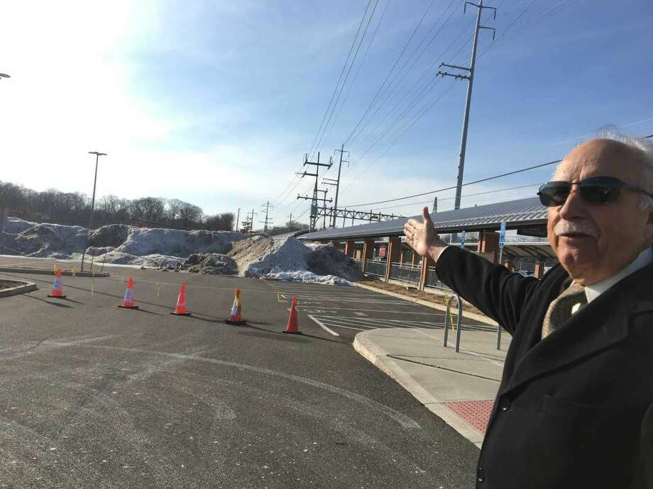West Haven railroad station advocate  Michael Mercuriano says the state Department of Transportation is hindering development of the West Haven Metro-North railroad station's ridership by blocking off dozens of parking spaces for storage of plowed snow.