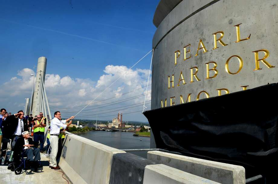 The Connecticut DOT allowed visitors to walk across the new southbound Pearl Harbor Memorial Bridge on I-95 during its grand opening celebration Saturday morning, September 18, 2015 in New Haven.