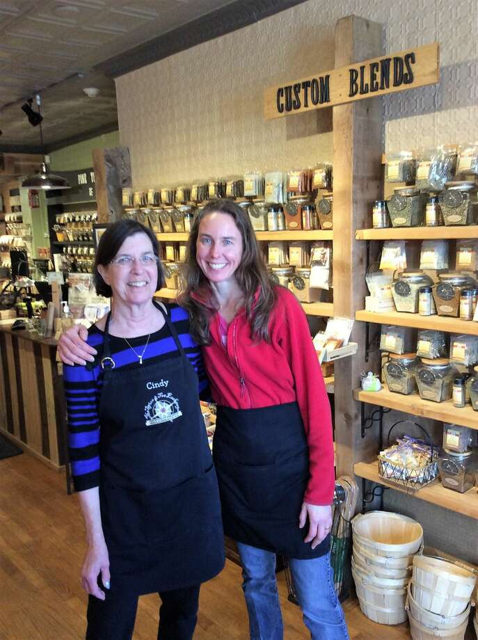 Shop owners Cindy Wright (left) and daughter Jen Asbury.