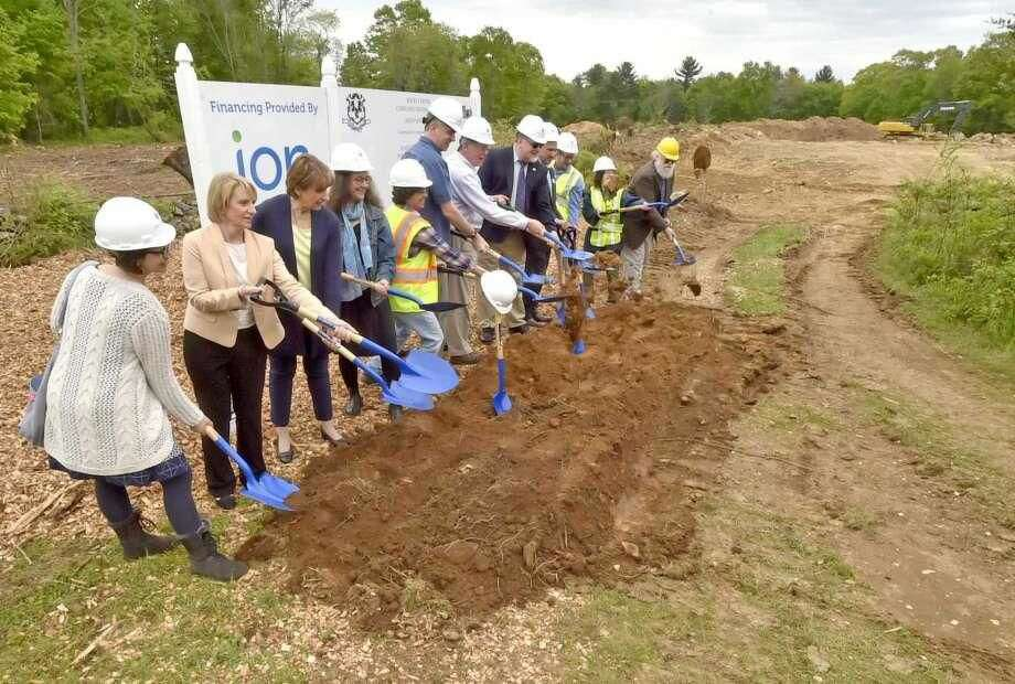 Ground is broken Tuesday, May 22, for the Rocky Corner housing development in Bethany.