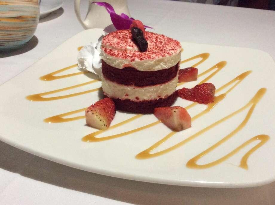 Red velvet cake, a sweet ending to dinner at Boca Landing