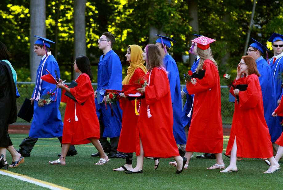 Foran High School's Class of 2018 graduation ceremony in Milford, Conn., on Tuesday, June 12.