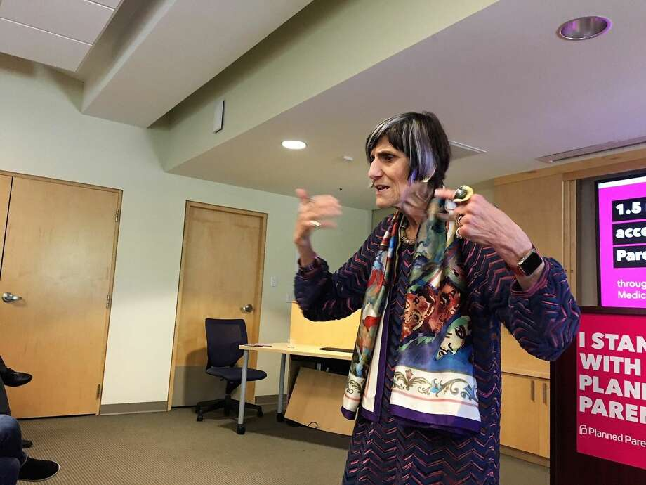 U.S. Rep. Rosa DeLauro speaks atPlanned Parenthood of Southern New England about her concerns about Trump administration plans on funding.