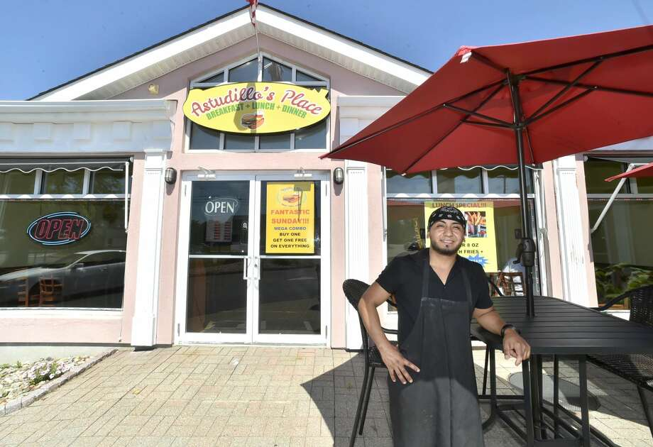 Marcello Astudillo, co-owner of Astudillo's Place in Orange, a hamburger, hotdog, french fries, and milkshake eatery that also has a breakfast menu.