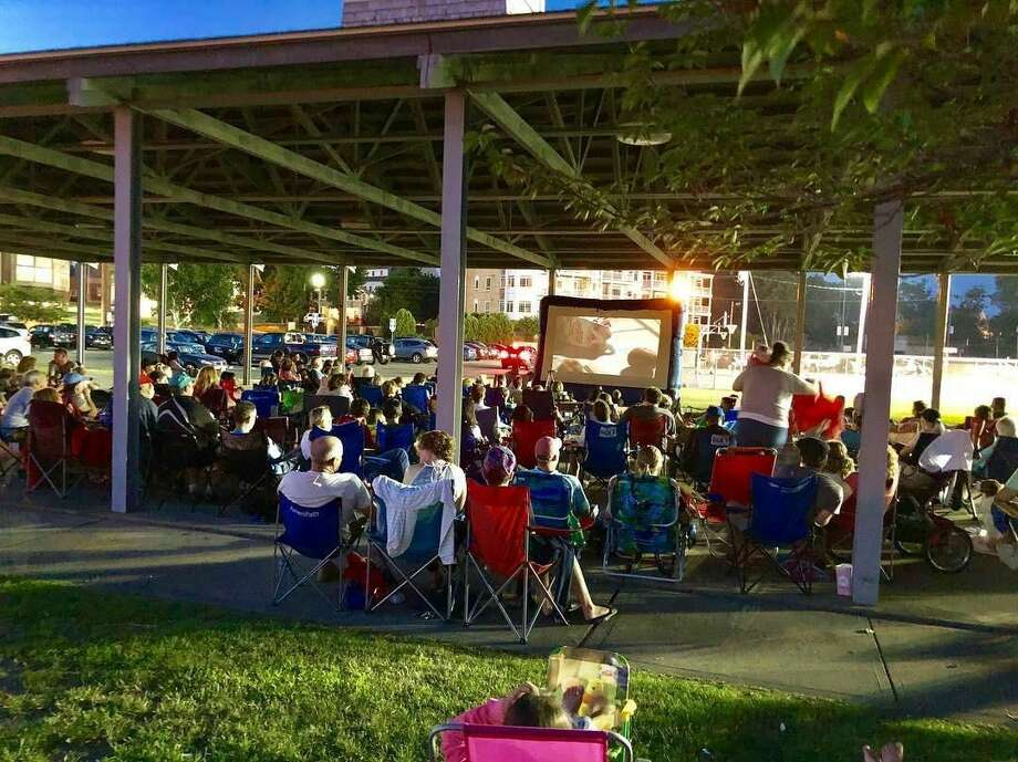Movie lovers enjoy the show at the Milford Summer Cinema Series.
