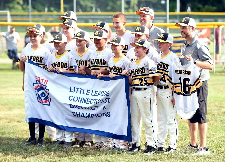 Milford's Lou Gehrig Little League All-Stars defeated North Haven's Max Sinoway 3-1 for the District 4 Little League championship in Milford on July 14, 2018.