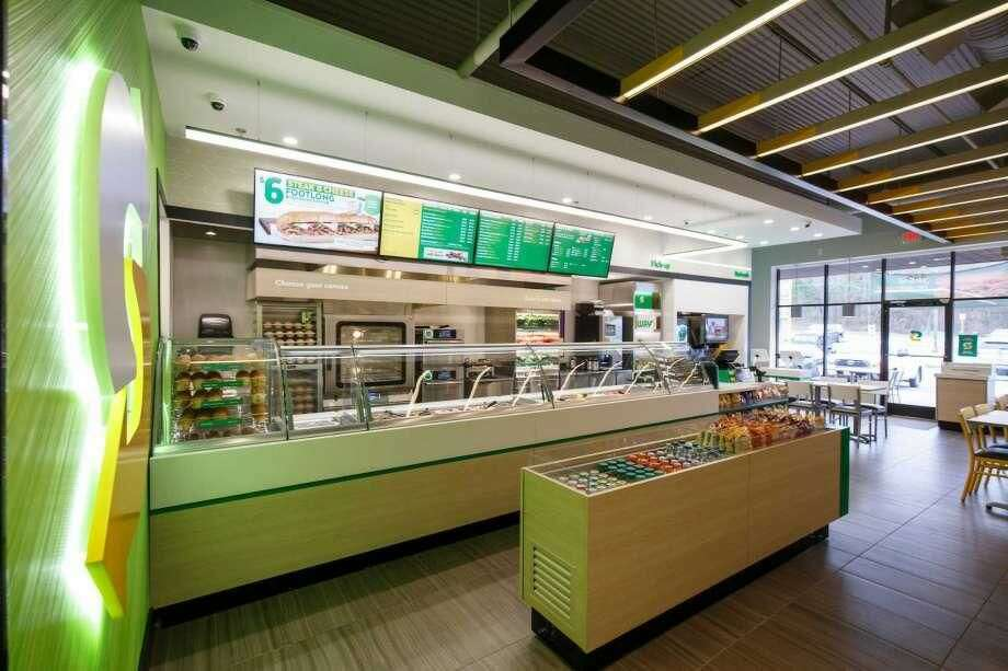 A Subway store before business hours.