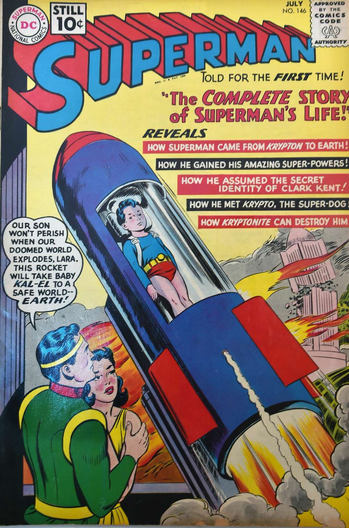 A Superman DC comic book from the collection of Randall Beach.