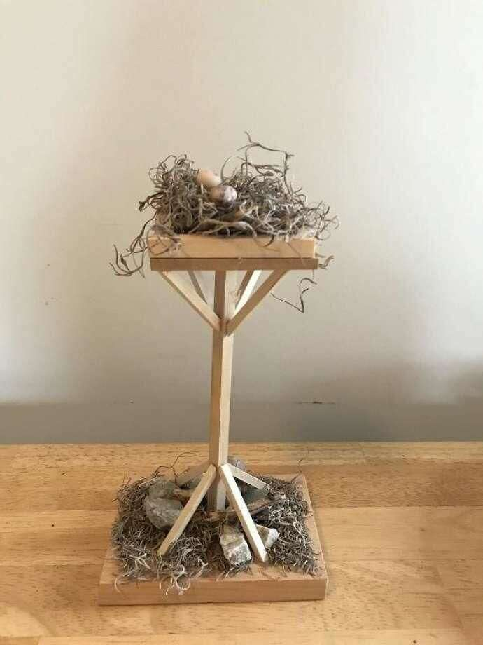 """These decorative Osprey platforms will be among the items for sale at the """"For the Birds"""" fundraiser at Milford Point Coastal Nov. 11."""
