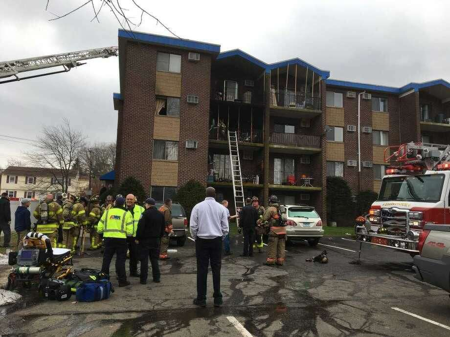 Firefighters respond to an apartment fire at 175 Canton St. in West Haven on Monday, Nov. 19.