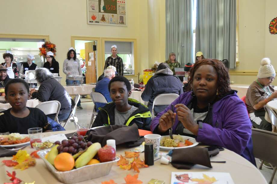 Community Thanksgiving Dinner at First Congregational Church.