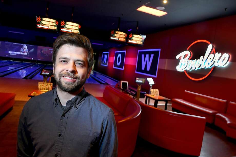 General manager Pablo Martinez is photographed at the Bowlero bowling alley in Milford.
