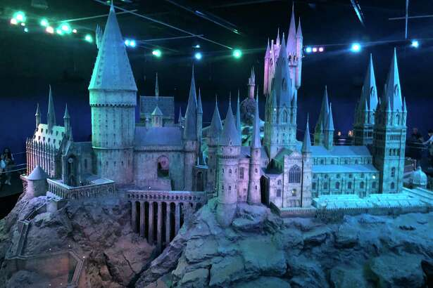 A model of Hogwarts is among the sets on display on the London soundstages and backlot where the Harry Potter films were made.