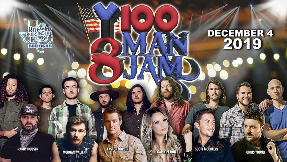 8 Man Jam is a yearly, exclusive tradition hosted in downtown's historic Majestic Theatre by radio station Y100 and Bud Light. This year the 8 Man Jam is bringing in Easton Corbin, Eli Young Band, Randy Houser, Scotty McCreery, Carly Pearce Morgan Wallen, Chris Young and LANCO for an acoustic jam session on Dec. 4.  Photo: Courtesy, 8 Man Jam