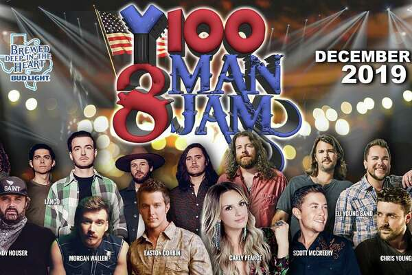 8 Man Jam is a yearly, exclusive tradition hosted in downtown's historic Majestic Theatre by radio station Y100 and Bud Light. This year the 8 Man Jam is bringing in Easton Corbin, Eli Young Band, Randy Houser, Scotty McCreery, Carly Pearce Morgan Wallen, Chris Young and LANCO for an acoustic jam session on Dec. 4.