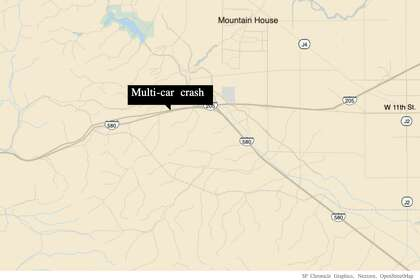 Multi-car crash on I-580 injures one, shuts down lanes near Tracy