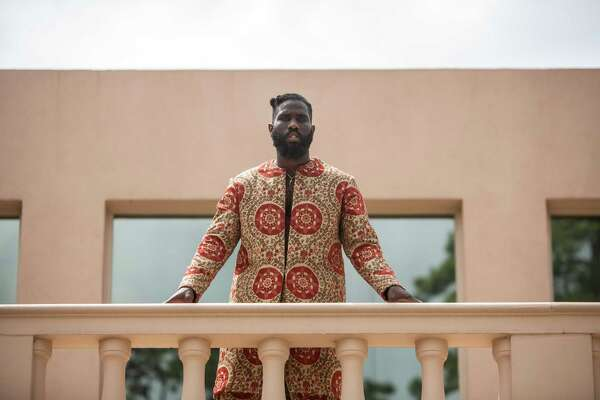 Tobe Nwigwe poses for a portrait on the set of his video shoot at the Reinzi museum and art gallery on Wednesday August 28, 2019 in Houston.