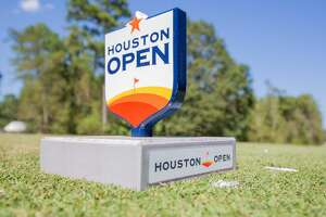 Houston Open logo on  the fifth tee during the Houston Open, First Round at the Golf Club of Houston on Thursday, October 10, 2019 in Humble, Texas. (Juan DeLeon/Contributor)