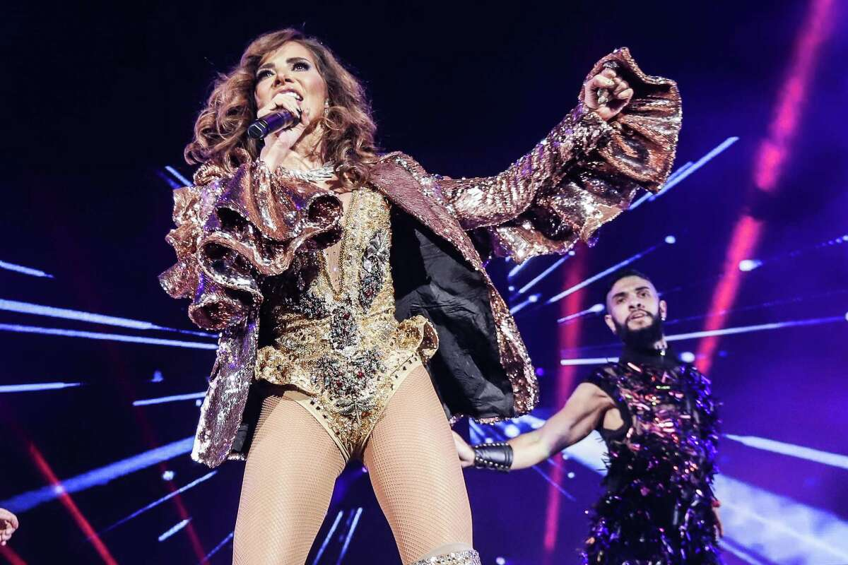 """Gloria Trevi: Mexican pop star Gloria Trevi was in town earlier this year on her """"Versus"""" arena tour with Alejandra Guzman. Now she's back headlining her """"Diosa de la Noche"""" tour. In addition to """"goddess of the night,"""" Trevi has been called the Mexican Madonna, both because of her provocative performances onstage and her at times notorious behavior offstage. Her best known songs include """"No Querías Lastimarme"""" and """"Todos Me Miran."""" With KaRol G. 8 p.m. Friday, Freeman Coliseum, 3201 E. Houston St. $39.95-$349.95. freemancoliseum.com - Jim Kiest"""