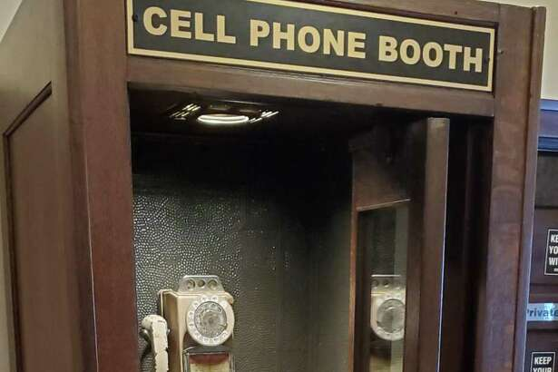 A great restaurant in Ypsilanti, Mich., had an old wooden phone booth repurposed as a cellphone booth.