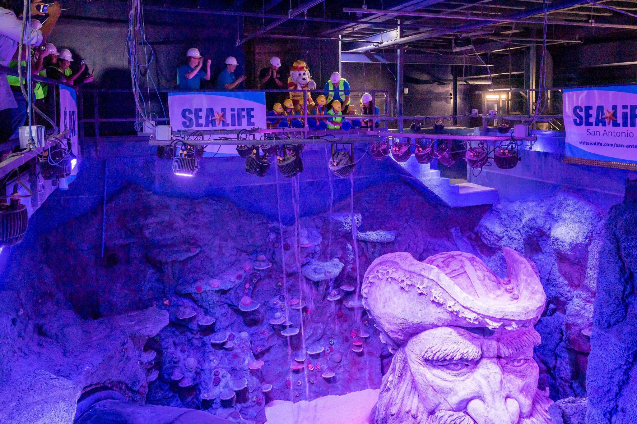 SEA LIFE Aquarium San Antonio begins to fill its 155,000-gallon ocean tank