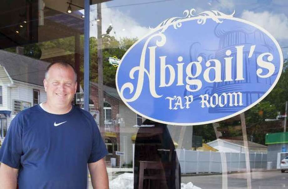 Brad Hagen stands outside of his restaurant, Abigail's, at 217 Main St., Grafton, where a grand opening is planned 11 a.m. to 10 p.m. Oct. 19-20.