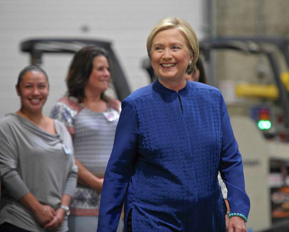 "Hillary Clinton was at Costco to sign her new book, ""What Happened"" on Saturday morning, September 16, 2017, in Brookfield, Conn. Photo: H John Voorhees III / Hearst Connecticut Media / Internal"