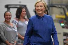 "Hillary Clinton was at Costco to sign her new book, ""What Happened"" on Saturday morning, September 16, 2017, in Brookfield, Conn."