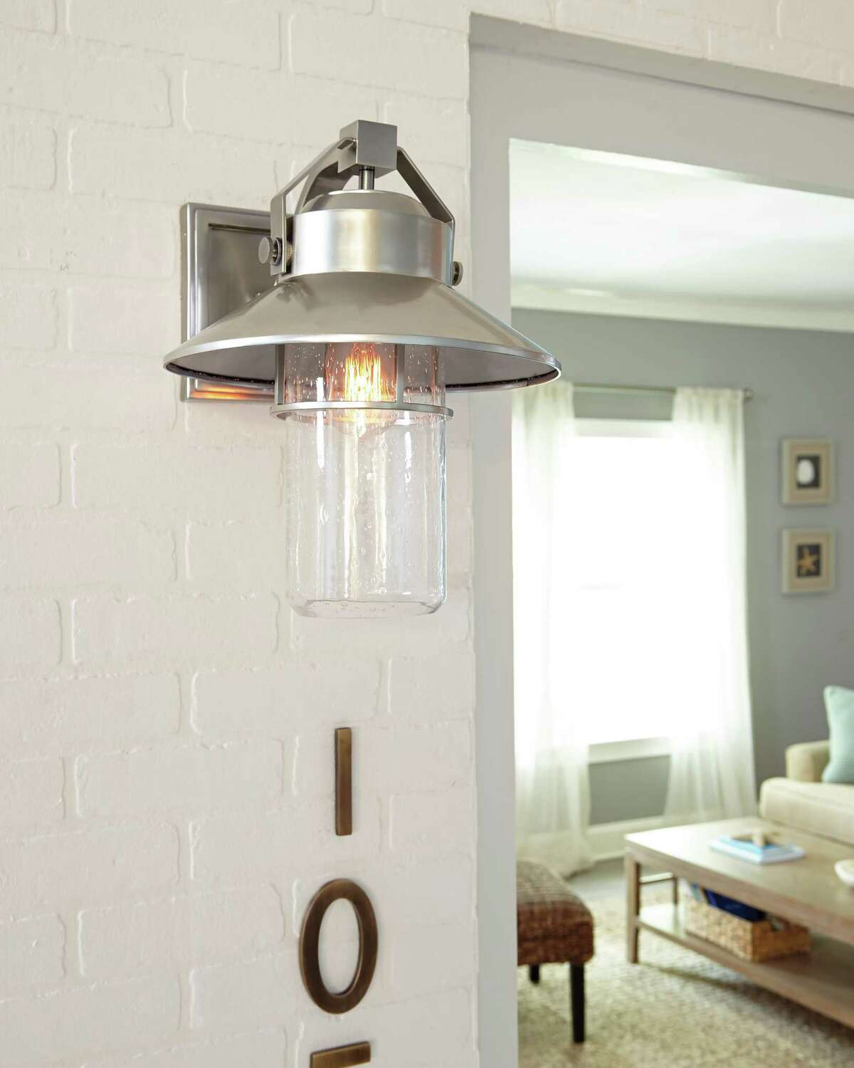 Outdoor wall lantern from the Feiss Collection.