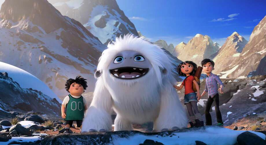 "This image released by DreamWorks Animation shows characters, from left, Peng, voiced by Albert Tsai, Everest the Yeti, Yi, voiced by Chloe Bennet and Jin, voiced by Tenzing Norgay Trainor, in a scene from ""Abominable,"" in theaters on Sept. 27. Photo: DreamWorks Animation LLC. / Associated Press / © 2019 DreamWorks Animation LLC. All Rights Reserved."