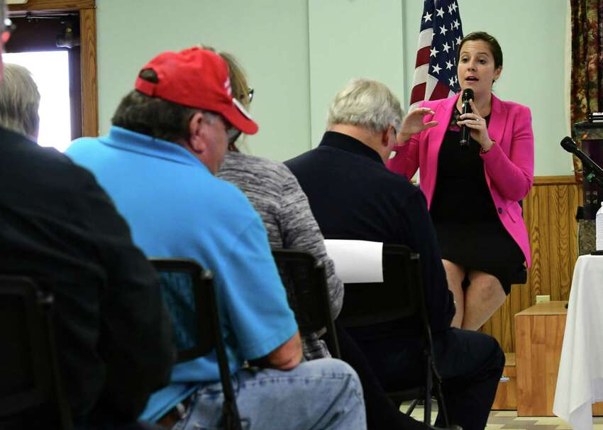 U.S. Rep. Elise Stefanik speaks during a town hall event at the Kingsbury Fire House on Friday, Oct. 11, 2019 in Kingsbury, N.Y. (Lori Van Buren/Times Union)