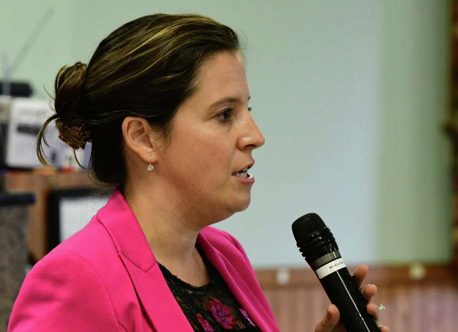 U.S. Rep. Elise Stefanik speaks during a town hall event at the Kingsbury Fire House on Friday, Oct. 11, 2019 in Kingsbury, N.Y. (Lori Van Buren/Times Union) Photo: Lori Van Buren, Albany Times Union / 20047996A