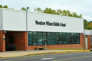 File photo of Woodrow Wilson Middle School in Middletown, Conn.