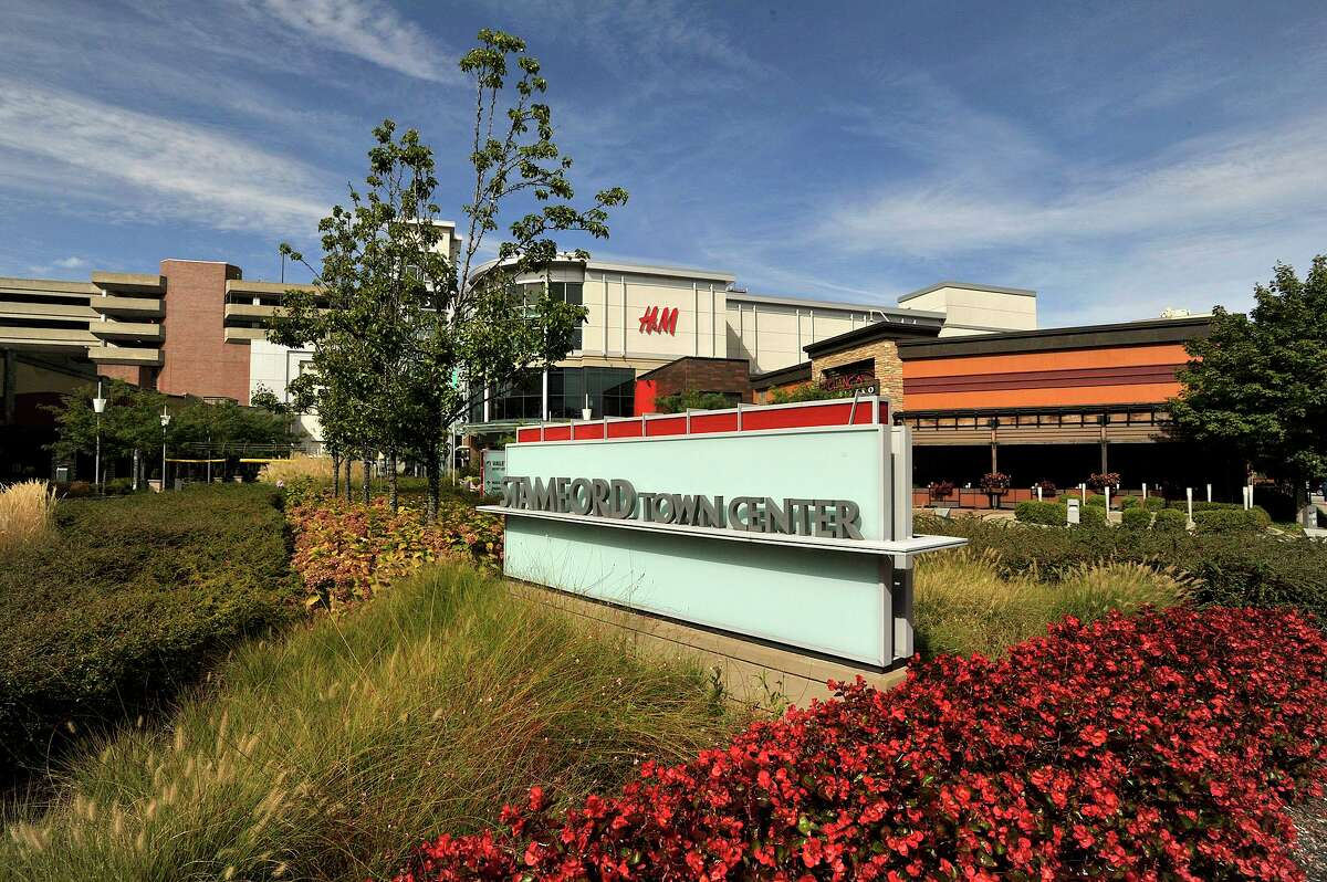 Stamford Town Center mall has gone on the market, with a sale possibly leading to the property's redevelopment.