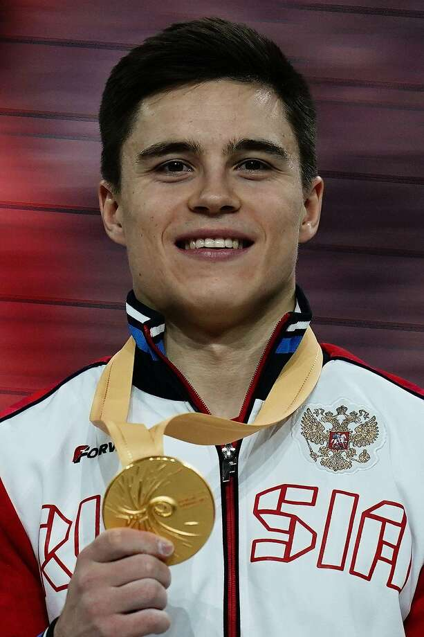 Nikita Nagornyy led a 1-2 finish for Russia in the men's all-around final. Photo: Lionel Bonaventure / AFP Via Getty Images